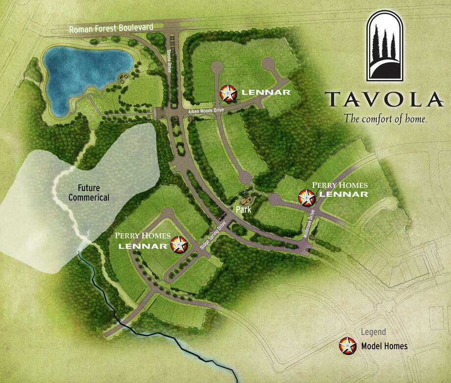 Amenities planned for Tavola, Friendswood Development's new master-planned community off U.S. 59, just north of Kingwood, include parks, a recreation center with a pool, playground and clubhouse, and miles of wooded greenbelt trails that will wind throughout the community. Photo: STATION64