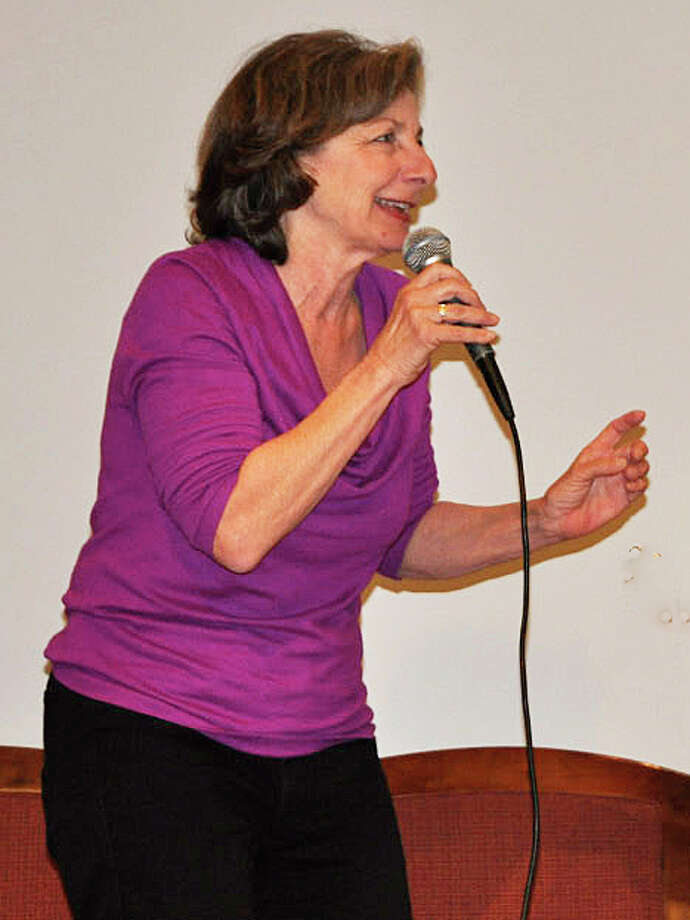 "Carole Schweid, shown here performing at the Westport Center for Senior Activities, will be speaking at the Westport Library on Aug. 18 about her experiences as a cast member of ""A Chorus Line."" Photo: Contributed Photo / Westport News"