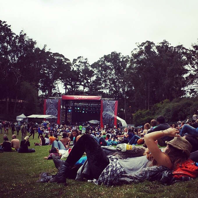 People watch the early show on Day 3 of Outside Lands. Photo: Courtesy Douglas Zimmerman