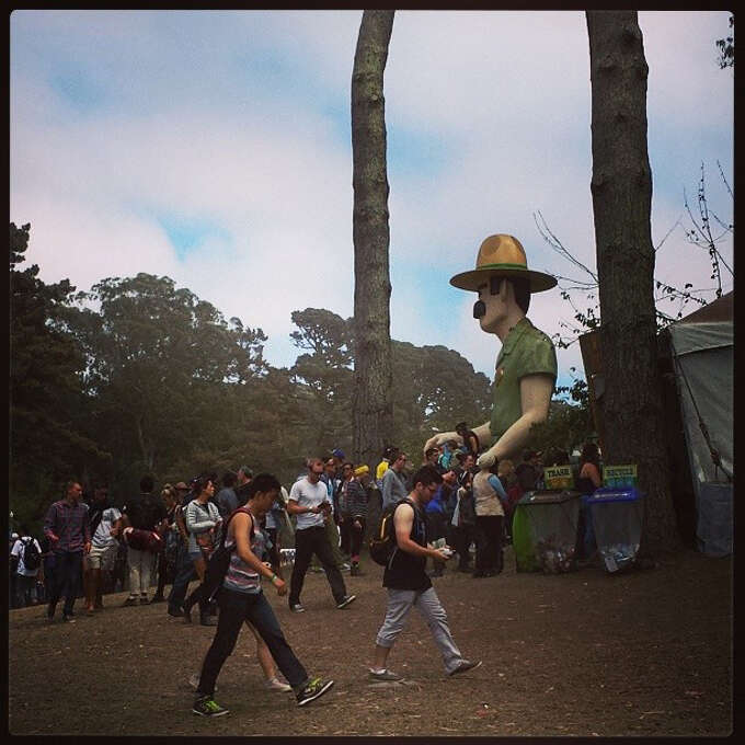 Ranger Dave watches over people entering on Day 3. Photo: Courtesy Douglas Zimmerman