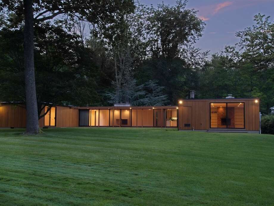 This home, by architect Philip Johnson, listed in New Canaan in 2014 for $1.575 million. Contributed photo.