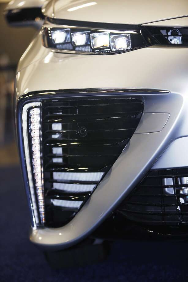Toyota's hydrogen fuel-cell vehicle includes air vents, which help to cool fuel cells. Photo: Lea Suzuki, The Chronicle