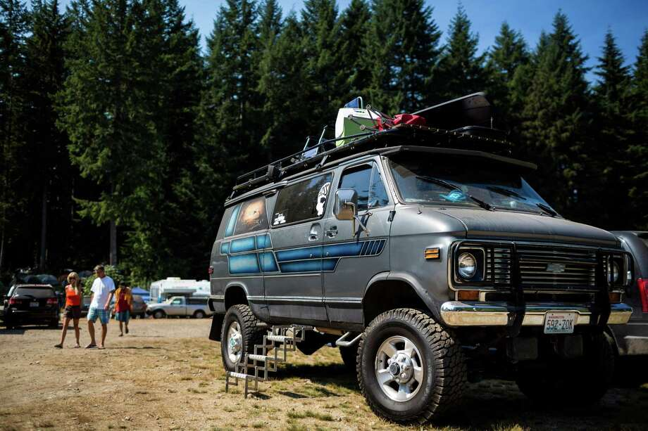 "Clever camping set-ups - some involving creatively modified vehicles - on the third and final day of the 14th annual Summer Meltdown, the ""Biggest Little Festival in The Northwest,"" on Sunday, August 10, 2014, at the Whitehorse Mountain Amphitheater in Darrington, Wash. Photo: JORDAN STEAD, SEATTLEPI.COM / SEATTLEPI.COM"