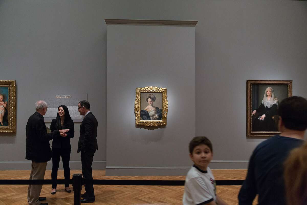 A celebrated painting by Parmagianino at the Legion of Honor in San Francisco, Calif., Friday July 26, 2014