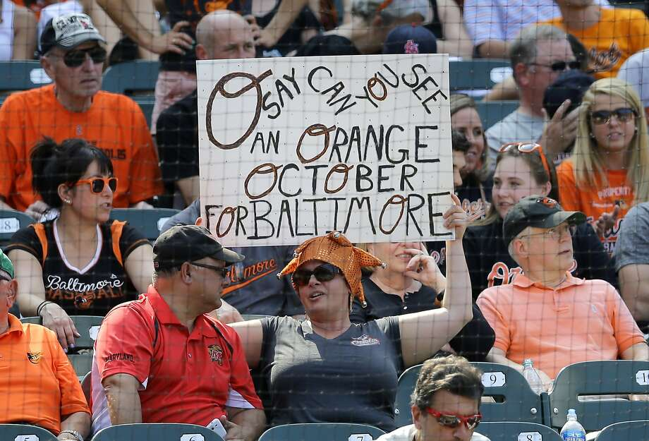 Baltimore fans are already envisioning what would be only the second postseason appearance for the Orioles since 1997. Photo: Patrick Semansky, Associated Press