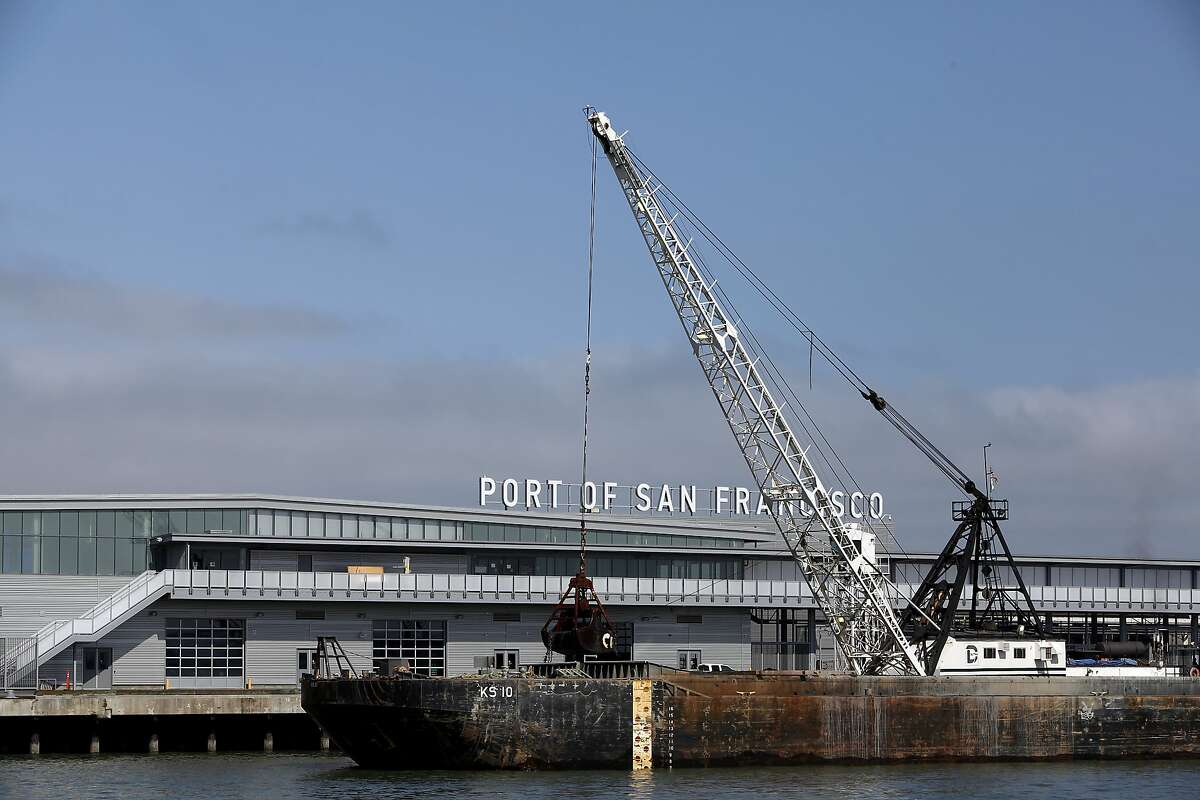 A new cruise ship terminal is under construction at Pier 27 in San Francisco, Calif., on Monday, August 11, 2014.