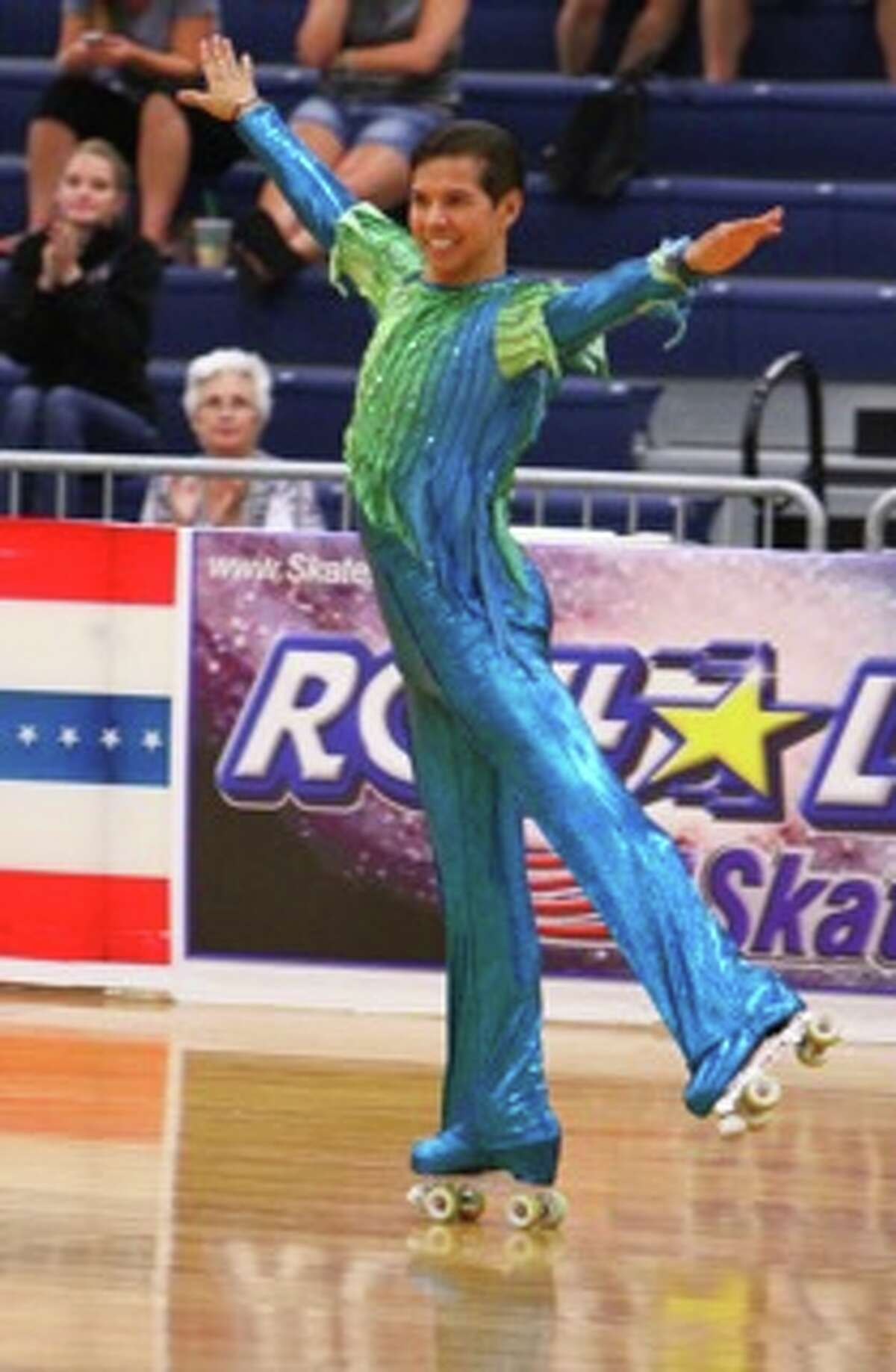 Mykal Pedraza became the oldest person to win a gold medal in a U.S. roller skating free style event in August 2014 at age 56.