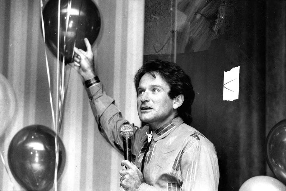 Robin Williams at Gary Hart Fundraiser. St. Francis Hotel. Jun 4, 1984.Williams was found dead at his home in Marin County on Monday, Aug. 11, 2014. He was 63. Photo: Chris Stewart, The Chronicle