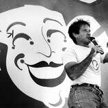 Robin Williams on Chronicle Comedy Day - July 25, 1987 at the Polo Field in Golden Gate Park. Williams was found dead at his home in Marin County on Monday, Aug. 11, 2014. He was 63.