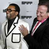 Awards recipients, director Spike Lee (left) and actor Robin Williams, laugh before the 50th San Francisco International Film Festival's Film Society Awards in San Francisco in 2007.