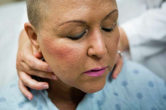 """Patient Lourdes Suggs says her decision to seek further treatment at M.D. Anderson """"saved my life."""""""
