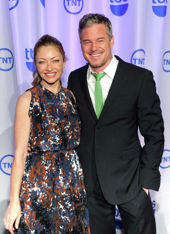 Actress Rebecca Gayheart, left, and her husband, actor Eric Dane, attend the TNT and TBS 2013 Upfront at the Hammerstein Ballroom on Wednesday, May 15, 2013 in New York. (Photo by Evan Agostini/Invision/AP) Photo: Evan Agostini / Invision