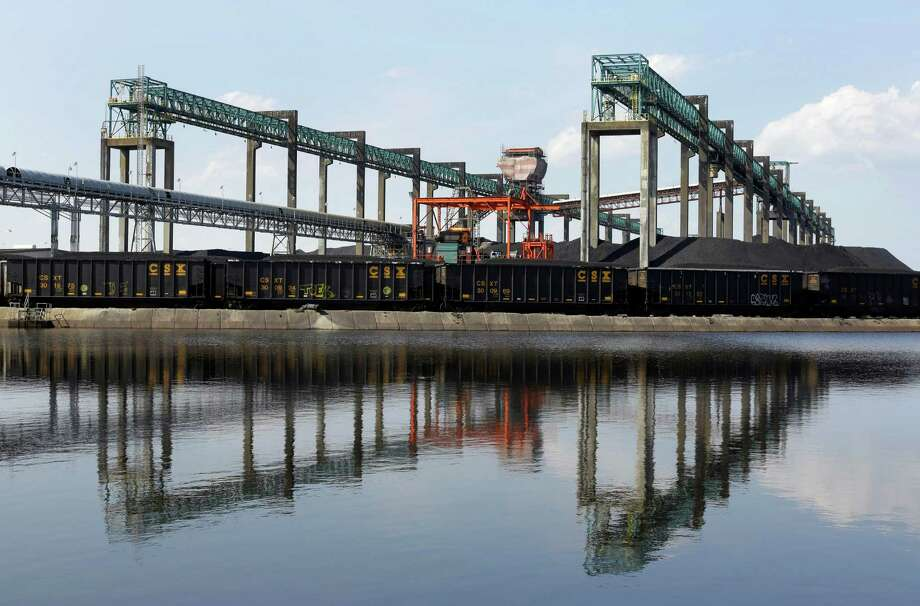Kinder Morgan's network of energy storage and transportation infrastructure includes this  coal terminal in Newport News, Va.  (AP Photo/Patrick Semansky) Photo: Patrick Semansky, STF / AP