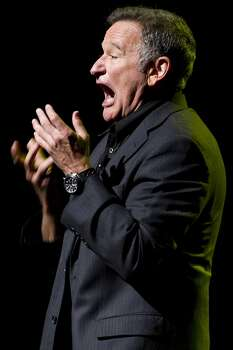 This Nov. 8, 2012 file photo shows Robin Williams performing at the 6th Annual Stand Up For Heroes benefit concert for injured service members and veterans in New York. Photo: Charles Sykes, Associated Press