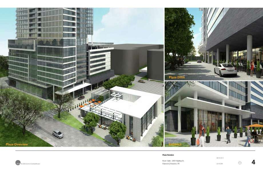Cutline: Conceptual rendering of proposed mixed-use high-rise planned for Upper Kirby Photo: Solomon Cordwell Buenz