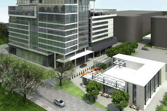 Cutline: Conceptual rendering of proposed mixed-use high-rise planned for Upper Kirby