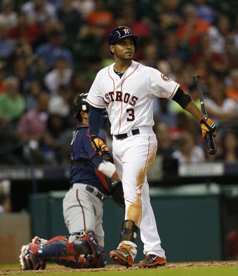 August 11: Twins 4, Astros 2  With the score tied at two in the ninth, reliever Josh Fields gave up two runs on a night Jose Altuve and Chris Carter accounted for the Astros' offense with a pair of solo home runs.  Record: 49-70. Photo: Karen Warren, Houston Chronicle