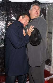 A file photo of Robin Williams with Harvey Firestein. Photo: Jim Spellman, Getty