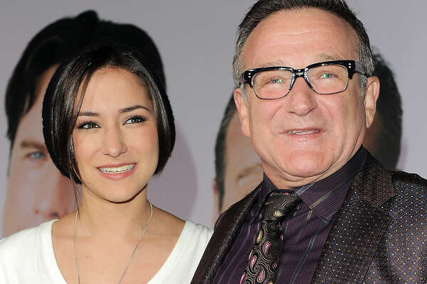 Zelda Williams, at left, and Robin Williams arrive to the premiere of Old Dogs on Monday Nov. 9, 2009, in Los Angeles.