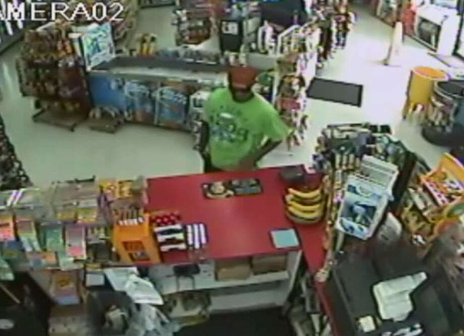 Authorities are searching for a man they say robbed a store in northwest Harris County.. The robbery happened about 1:50 p.m. Aug. 3 at a food store in the 16800 block of Theiss Mail Route Road, according to the Harris County Sheriff's Office. | Crime Stoppers of Houston Photo: Crime Stoppers Of Houston