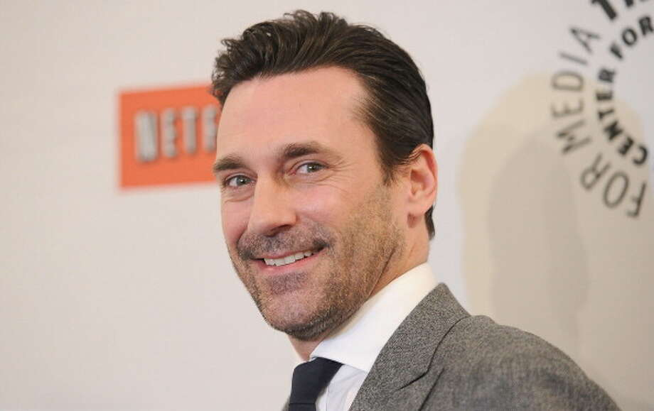 Since 1997, actor Jon Hamm  (b:1971) has been in a long-term relationship with actress and screenwriter Jennifer Westfeld.  Photo: Jason Merritt, Getty Images / 2012 Getty Images