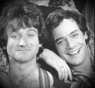 Robin Williams and Wayne Powers in 1978.