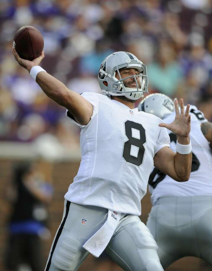 Matt Schaub, QB New team: Raiders Drafted by the Atlanta Falcons in the 3rd round (90th overall) of the 2004 NFL draft. The Texans traded Houston for Schaub in a draft day deal in 2007. He started 88 games for the Texans, compiling a 46-42 record while throwing for 23,221 yards, 124 TDs and 78 INTs. The Texans travel to Oakland to face the Raiders in Week 2 (Sept. 14) of the regular season. Photo: Hannah Foslien, Getty Images