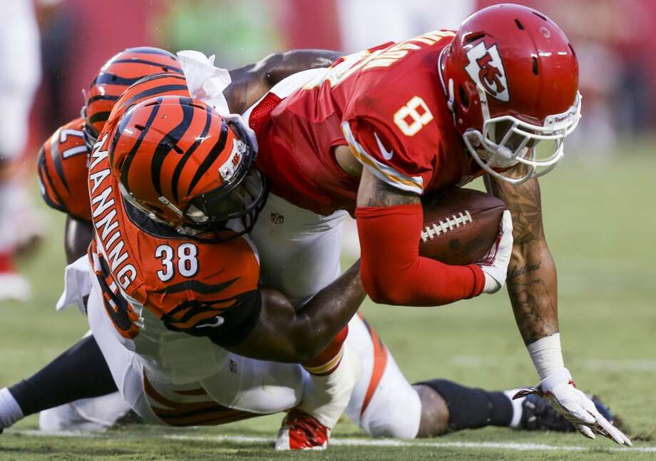 Danieal Manning, DB New team: Bengals Drafted by the Chicago Bears in the 2nd round (42nd overall) of the 2006 NFL draft. Manning signed in Houston as a free agent before the 2011 season. He started 35 games for Houston (6 in 2013) and recorded 124 tackles, 4 INTs and 2 sacks as a Texan. The Bengals visit NRG Stadium to face the Texans in Week 12 (Nov. 23) of the regular season. Photo: Ed Zurga, Associated Press