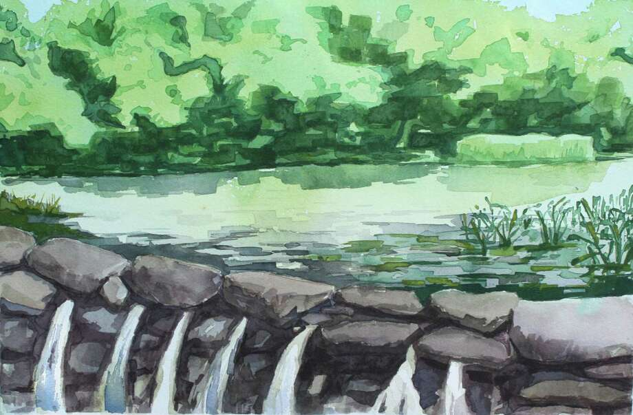 """Silvermine Pond,"" a watercolor by Liza Masalimova, will be part of the Silvermine School of Art's faculty exhibition, which opens Thursday, Aug. 21, in New Canaan. Photo: Contributed Photo, Contributed / New Canaan News Contributed"