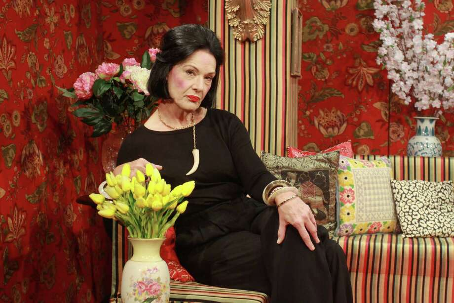 """Sally Edmundson stars as the famed fashion guru Diana Vreeland in Stages' production of """"Full Gallop."""" Photo: Gary Fountain, Freelance / Copyright 2014 by Gary Fountain"""