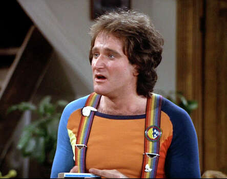 "Robin Williams as Mork in ""Mork's Best Friend,"" from 1979.  Photo: CBS Photo Archive, Contributor / ONLINE_YES"
