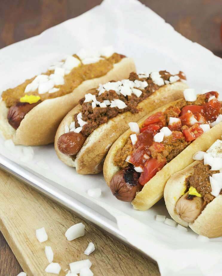 "Coney Island Hot Dogs are highlighted in ""Haute Dogs: Recipes for Delicious Hot dogs, Buns and Condiments."" Photo: Russell Van Kraayenburg / Russell Van Kraayenburg"