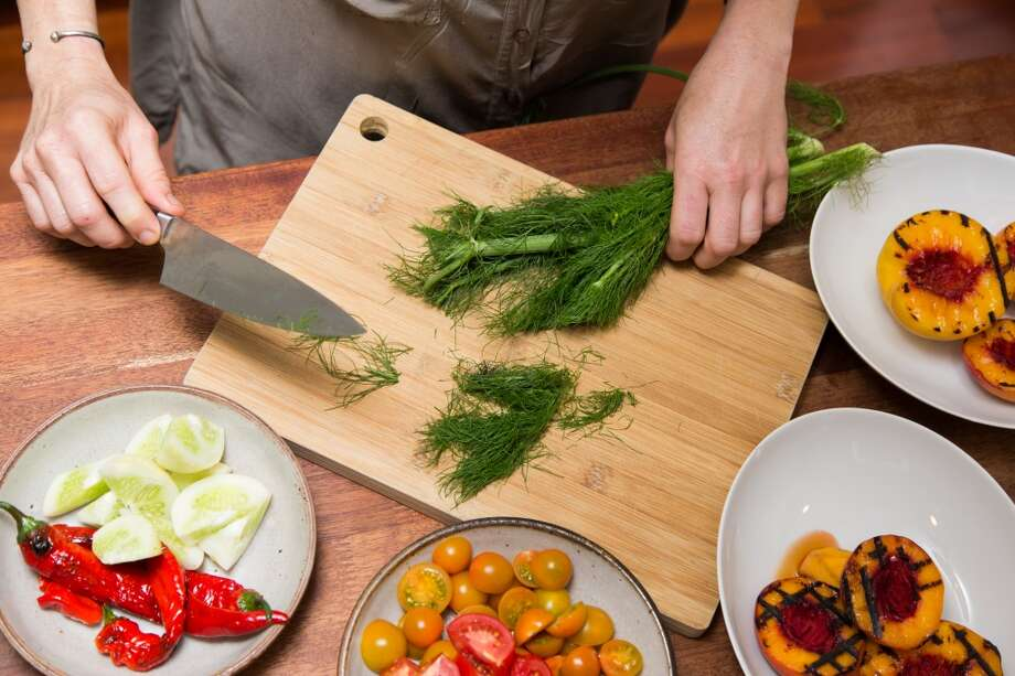 Slicing fennel. Photo: Jason Henry, Special To The Chronicle