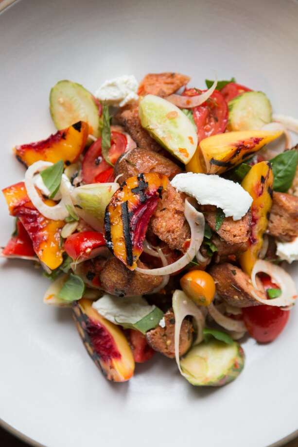 The completed panzanella dish. Photo: Jason Henry, Special To The Chronicle