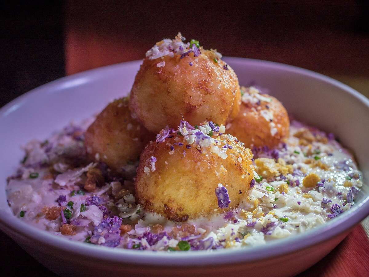The Puffed Potato &Eggs at Stones Throw in San Francisco, Calif. is seen on August 6th, 2014.