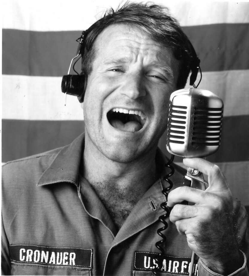 """Good Morning, Vietnam"":  irreverent disc jockey."