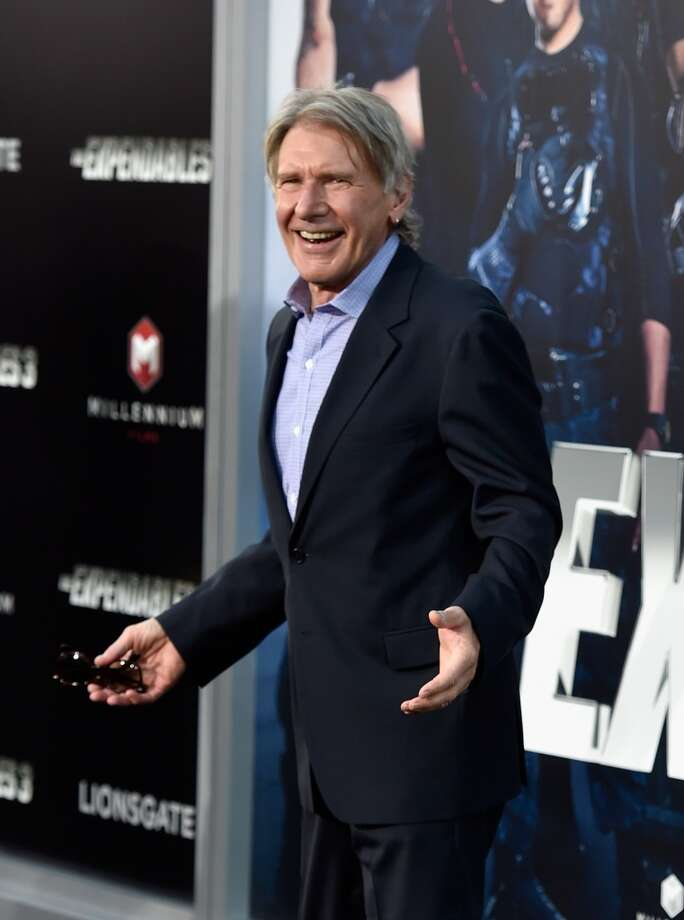 "Actor Harrison Ford attends Lionsgate Films' ""The Expendables 3"" premiere at TCL Chinese Theatre on August 11, 2014 in Hollywood, California. Photo: Frazer Harrison, Getty Images"