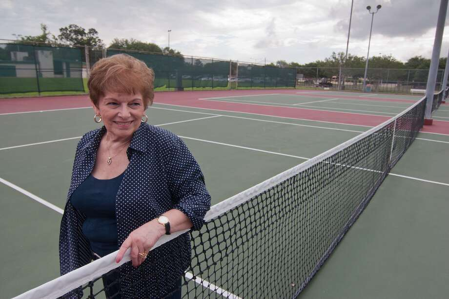 Bellaire resident Patti LeClear is leading a fund-raising project to renovate a tennis center named for her late husband, Lee. She says Court 3 at the center was where he taught tennis. Photo: R. Clayton McKee, Freelance / © R. Clayton McKee