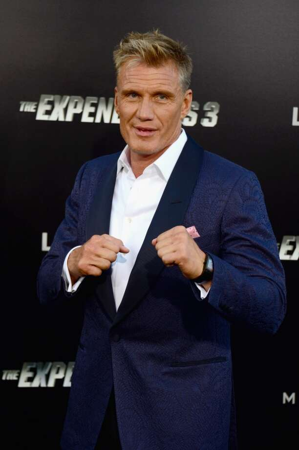 "Actor Dolph Lundgren attends Lionsgate Films' ""The Expendables 3"" premiere at TCL Chinese Theatre on August 11, 2014 in Hollywood, California. Photo: Frazer Harrison, Getty Images"