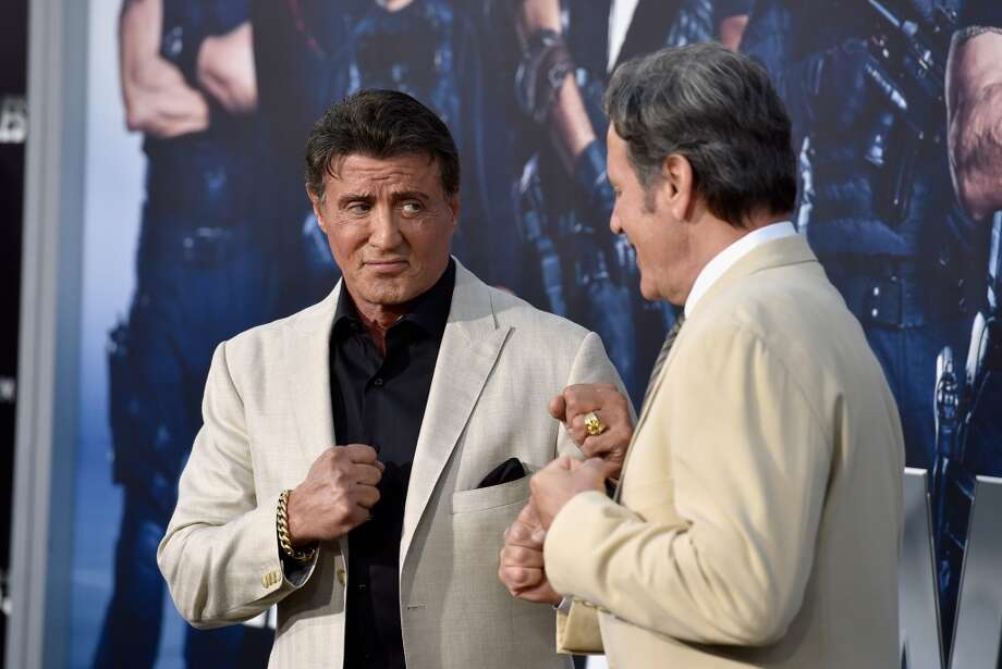 "Actor Sylvester Stallone and Frank Stallone attend Lionsgate Films' ""The Expendables 3"" premiere at TCL Chinese Theatre on August 11, 2014 in Hollywood, California. Photo: Frazer Harrison, Getty Images"