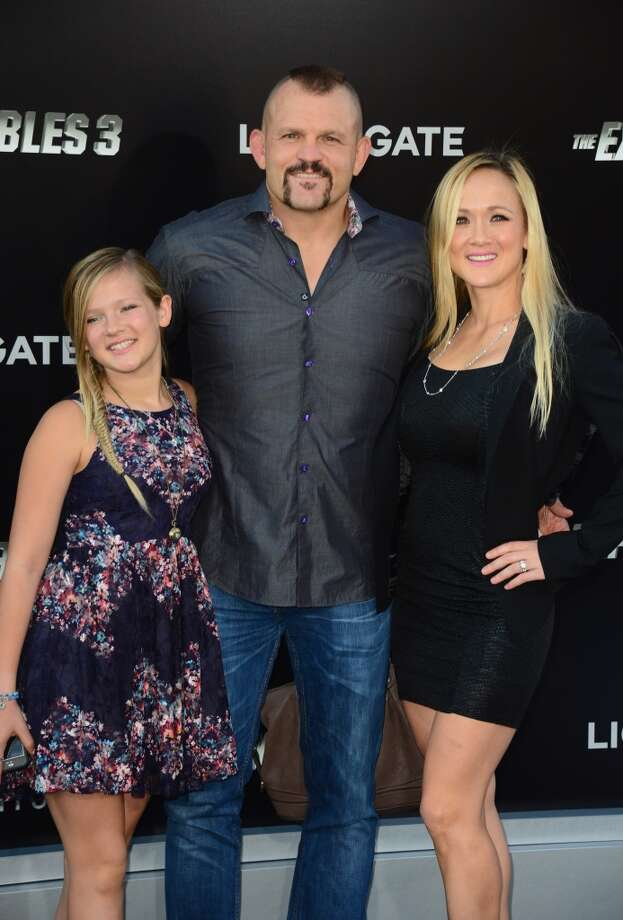 "(2ndL-R) Martial artist Chuck Liddell and Heidi Liddell attend Lionsgate Films' ""The Expendables 3"" premiere at TCL Chinese Theatre on August 11, 2014 in Hollywood, California. Photo: Frazer Harrison, Getty Images"