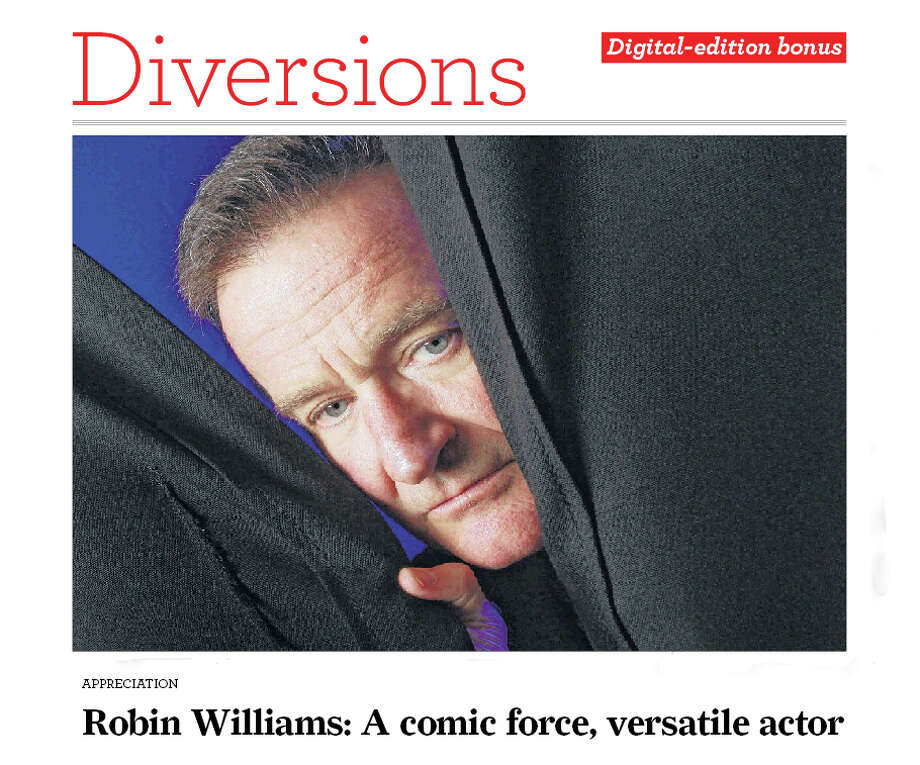 Print Promo for Robin Williams special section / digital-edition bonus Photo: Contributed Photo, Jay Paul/New York Times / Connecticut Post Contributed