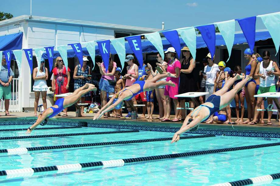 The Tokeneke Club Warriors swim and dive team concluded a successful competitive season. Photo: Contributed Photo, Contributed / Darien News