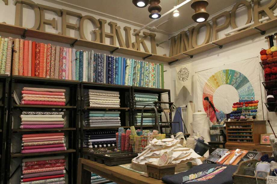 Various patterns and colors of fabric are seen at the Makery on State St. on Wednesday, July 23, 2014 in Los Altos, Calif. The Makery features everything you would need to throw a party and a wide array of arts and crafts. Photo: James Tensuan, Staff Photographer / The Chronicle / ONLINE_YES
