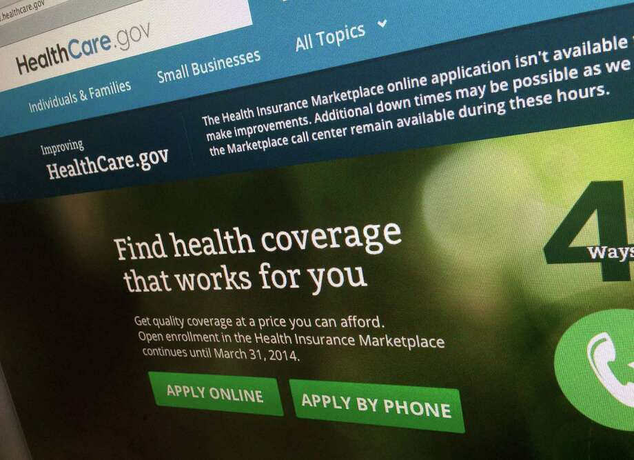 FILE - This Nov. 29, 2013, file photo shows a part of the HealthCare.gov website, photographed in Washington. The administration is warning hundreds of thousands of consumers they risk losing taxpayer-subsidized health insurance unless they act quickly to resolve issues about their citizenship and immigration status. (AP Photo/Jon Elswick, File) Photo: Jon Elswick, STF / AP