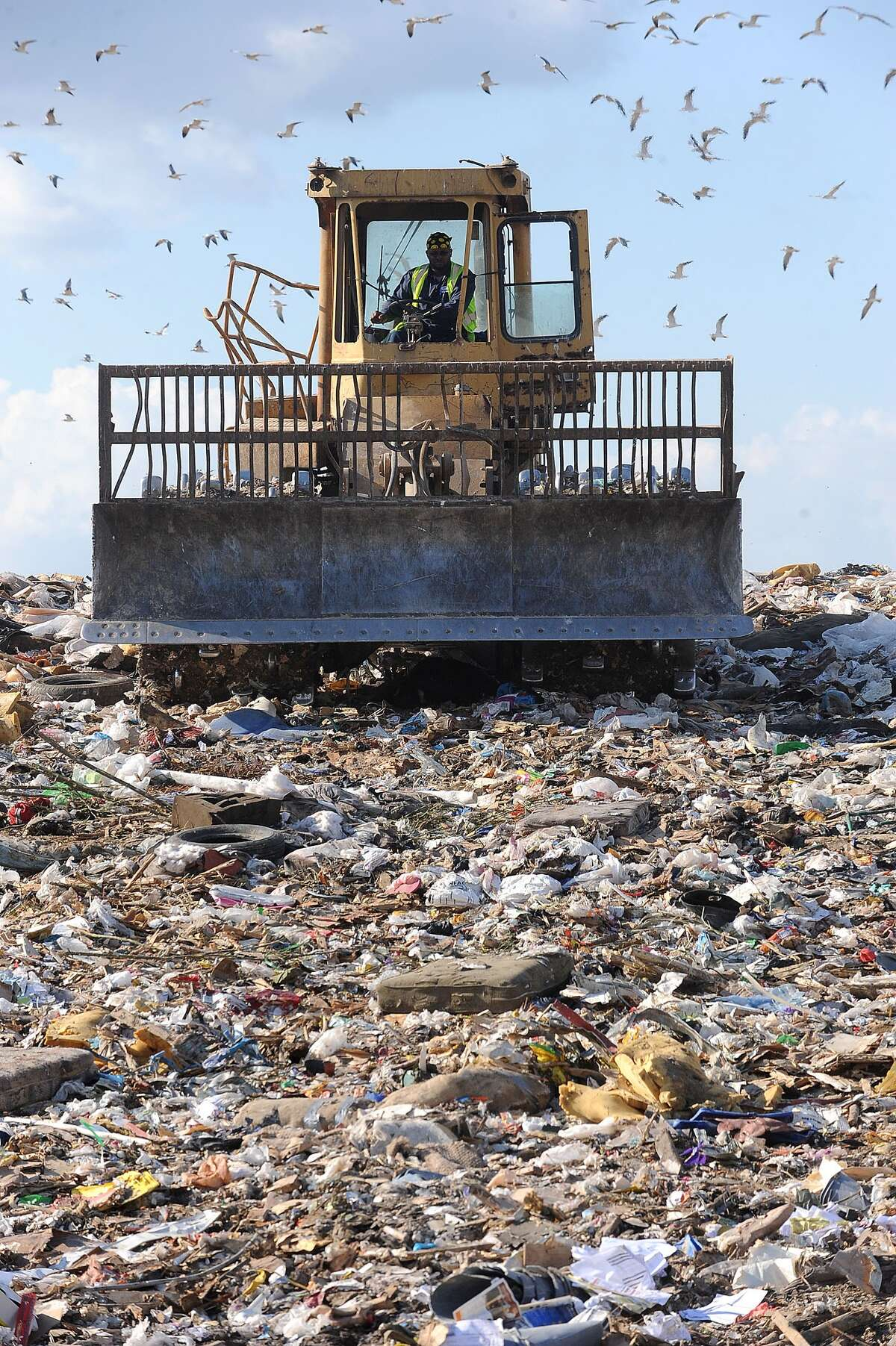More trash is headed to Beaumont's landfill, pictured, due to the cancellation of curbside recycling services in Beaumont. How much do you know about recycling in Texas? Click forward to take a quiz and find out.