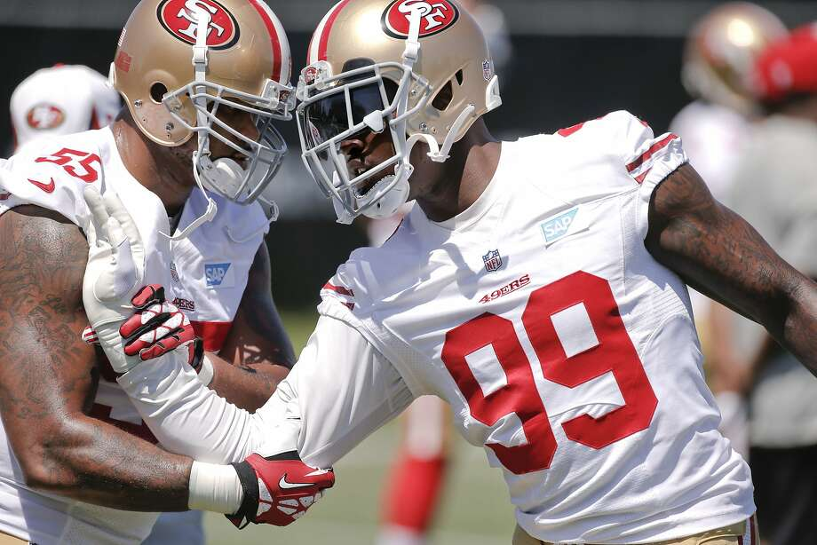 Aldon Smith could be suspended up to eight games after last week's meeting with Commissioner Roger Goodell. Photo: Michael Macor, The Chronicle