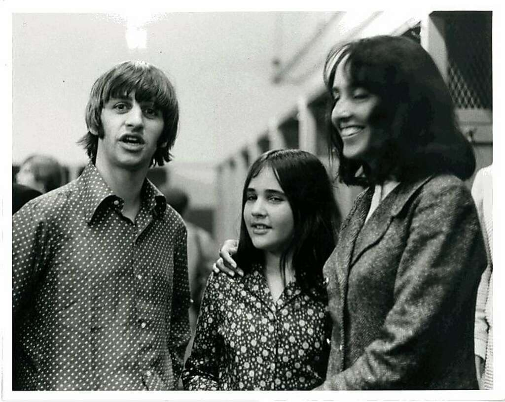 At age 10, Naomi Marcus met Ringo Starr and the rest of the Beatles when family friend and neighbor Joan Baez (right) brought her to the Fab Four's 1966 show at Candlestick Park. Photo: Courtesy Naomi Marcus