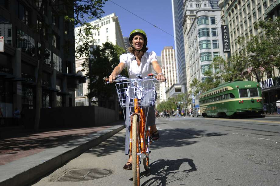 Leah Shahum led the San Francisco Bicycle Coalition for the past dozen years. Photo: Yue Wu, The Chronicle