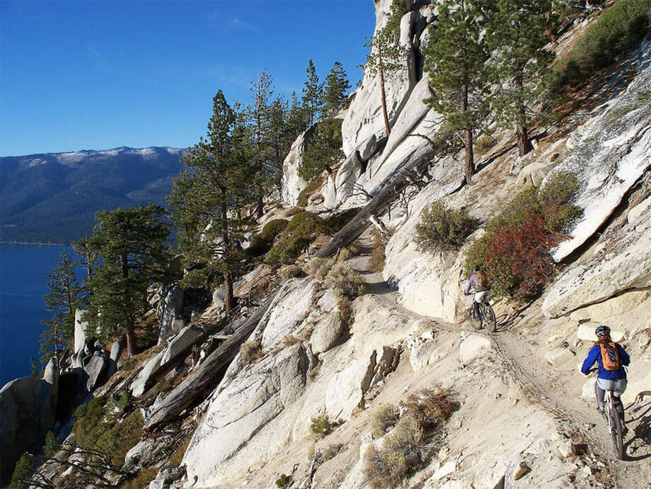 Biking the Tahoe Rim Trail. Photo: Travel Nevada